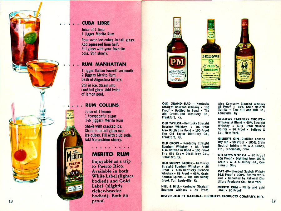 Fine Cocktails Made Easy Pages 18-19