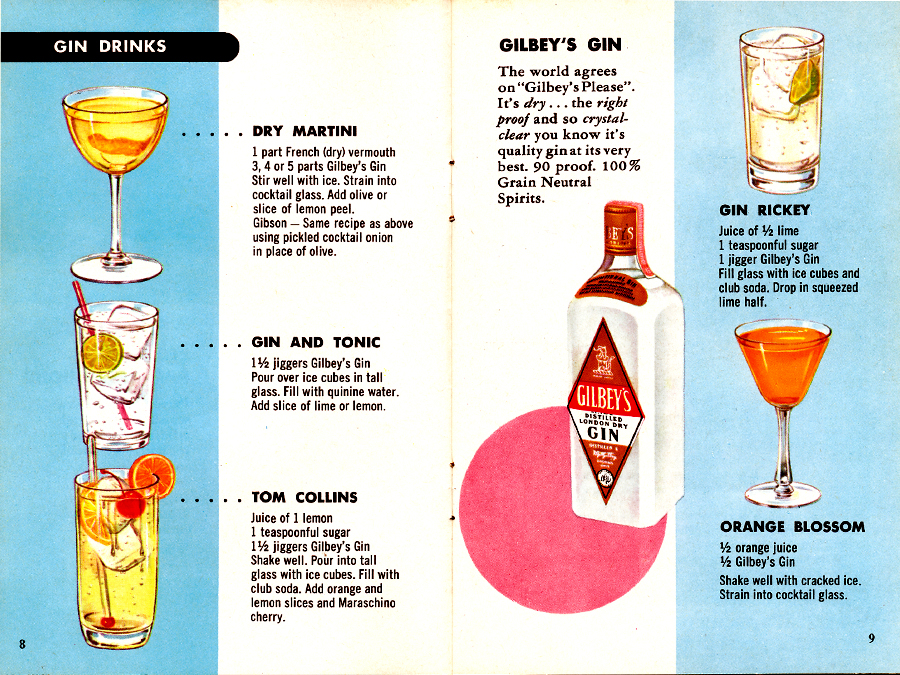 Fine cocktails made easy pages 8 9 out of 20 the for Best gin for martini recipes