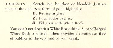 White Rock Highballs