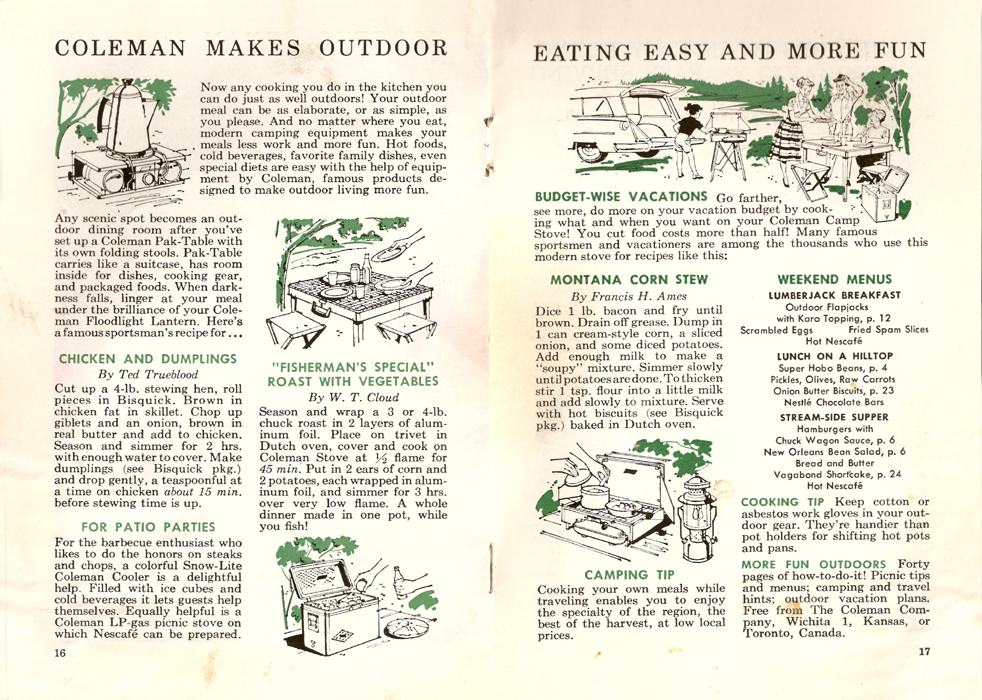 Let's Eat Outdoors Pages 16-17