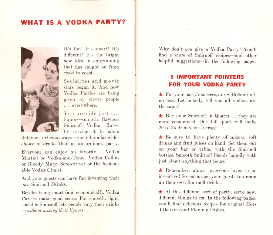 How to Give a Vodka Party - Pages 2-3