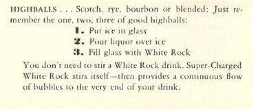 White Rock Highballs