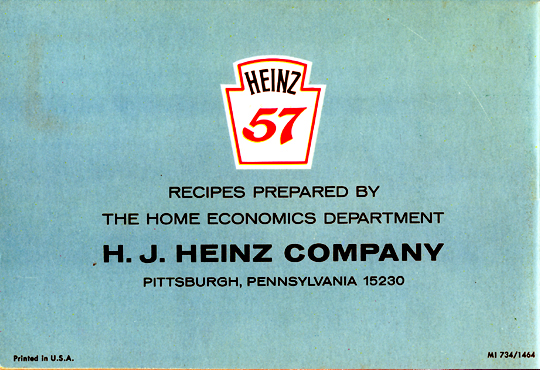 Heinz Magic of Food - Back Cover